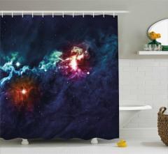 Bebek Galaksiler Desenli Duş Perdesi Şık Dekoratif