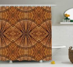 Çizgiler ve Daireler Duş Perdesi Dekoratif