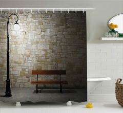 Taş Duvar ve Bank Duş Perdesi Dekoratif
