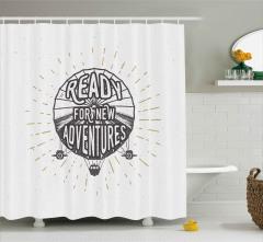 Zeplin Desenli Duş Perdesi Yeni Maceralara Hazır