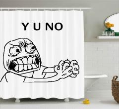 Çıldırmış Bir Adam Desenli Duş Perdesi Olamaz