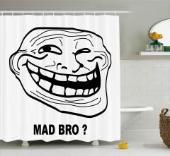 Bir Çatlağın Kahkahası Duş Perdesi Deli Kardeş