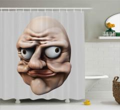 Fantastik Amorf Yakışıklı Duş Perdesi 3D Efektli