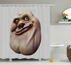 Fantastik Amorf Tombiş Duş Perdesi 3D Efektli