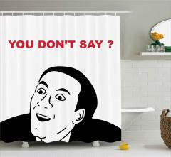 Ağzı Açık Bir Adam Duş Perdesi Söyleme