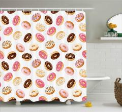 Nefis Donut Şöleni Duş Perdesi Şık Tasarım
