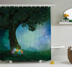 Perili Ormanın Çiçekleri Duş Perdesi Fantastik