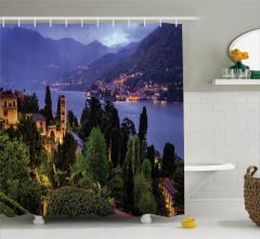 Como Gölü'nde Akşam Duş Perdesi Orman Dağ Manzarası