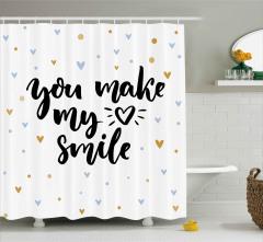 Kalbimi Gülümsetiyorsun Duş Perdesi Romantik Şık