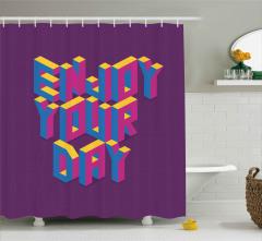 Gününün Keyfini Çıkar Duş Perdesi İlham Verici