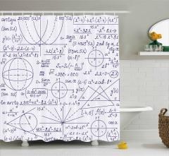 Matematik ve Geometri Desenli Duş Perdesi Trend