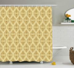 Barok Duvar Kağıdı Desenli Duş Perdesi Dekoratif