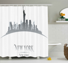 New York Gökdelenleri Duş Perdesi Özgürlük Anıtı