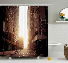 New York'un Boş Sokakları Duş Perdesi Binalar