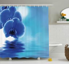 Orkidelerin Suya Dokunuşu Duş Perdesi Dekoratif