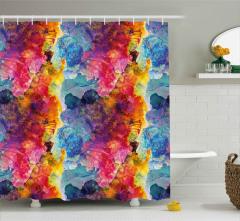 Çiçekler ve Geyşa Duş Perdesi Dekoratif