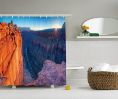Büyük Kanyon'da Gün Doğumu Manzaralı Duş Perdesi