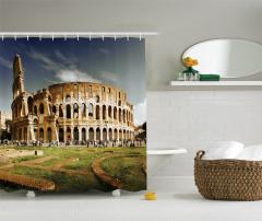 Kolezyum ve Gökyüzü Manzaralı Duş Perdesi Roma