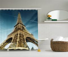 Eyfel Kulesi Manzaralı Duş Perdesi Paris Temalı