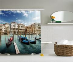 Venedik'te Gondol Gezisi Temalı Duş Perdesi İtalya