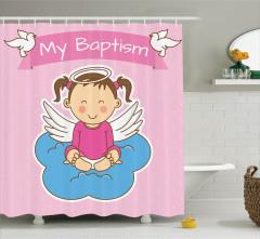 Çocuklar İçin Duş Perdesi Sevimli Vaftiz Temalı
