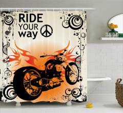 Ruhu Özgür Olanlara Özel Duş Perdesi Motosiklet