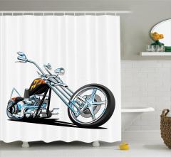 Motosiklet Tutkunlarına Özel Duş Perdesi Spor