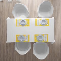 Sarı Duvar Kağıdı Amerikan Servis Limon Formlu