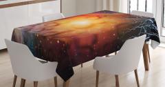 Sonsuzluk ve Gökyüzü Temalı Masa Örtüsü Uzay Gökyüzü