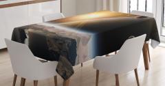 Uzaydan Dünya'ya Bakış Temalı Masa Örtüsü Gezegen