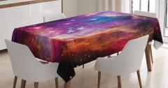 Samanyolu Galaksisi Temalı Masa Örtüsü Kozmos Uzay