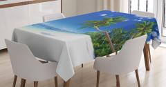 Okyanus Tatili Temalı Masa Örtüsü Deniz Gökyüzü