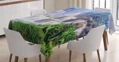 Gizli Cennet Temalı Masa Örtüsü Şelale Orman