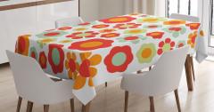 Rengarenk Çiçek Desenli Masa Örtüsü Şık Tasarım