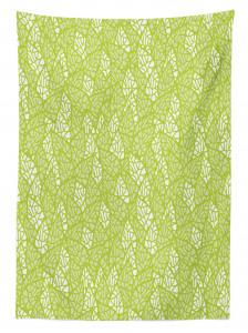 Bahar Temalı Masa Örtüsü Yaprak Desenli Yeşil Şık