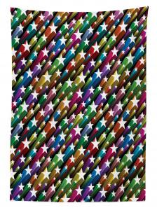 Yıldız Desenli Masa Örtüsü Rengarenk Şık Tasarım
