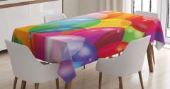 Çocuklar İçin Masa Örtüsü Rengarenk Balon Desenli