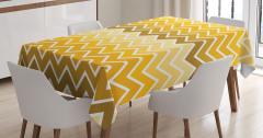 Zikzak Desenli Masa Örtüsü Sarı Şık Tasarım Trend