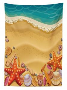 Kumsal ve Deniz Yıldızı Desenli Masa Örtüsü Çocuk