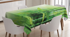 Bambu ve Sudaki Yansıması Desenli Masa Örtüsü Trend
