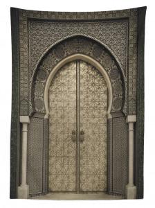 Oryantal Kapı Temalı Masa Örtüsü Etnik Antik Şık