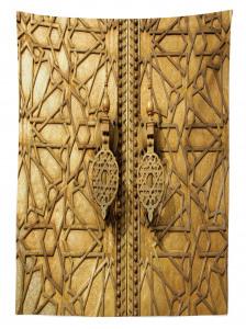 Altın Kapı Manzaralı Masa Örtüsü Antik Arap Etnik
