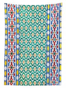 Rengarenk Mozaik Desenli Masa Örtüsü Etnik Trend