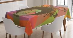 Müzik Severler için Masa Örtüsü Rengarenk Trend