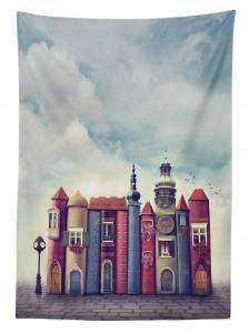 Sihirli Şehir Temalı Masa Örtüsü Rengarenk