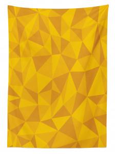 Üçgen Desenli Masa Örtüsü Sarı Turuncu Şık