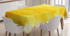 Gün Doğumu Temalı Masa Örtüsü Sarı Dalga Işık