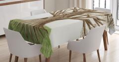Ağaç Temalı Masa Örtüsü Yeşil Kahverengi Doğa