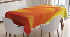 Turuncu Masa Örtüsü Modern Sanat Şık Tasarım Trend