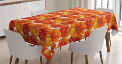 Turuncu Masa Örtüsü Romantik Gelincik Çiçekleri